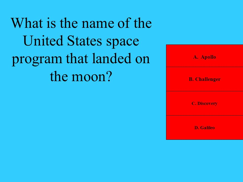 What is the name of the United States space program that landed on the moon
