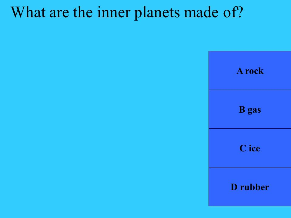 What are the inner planets made of