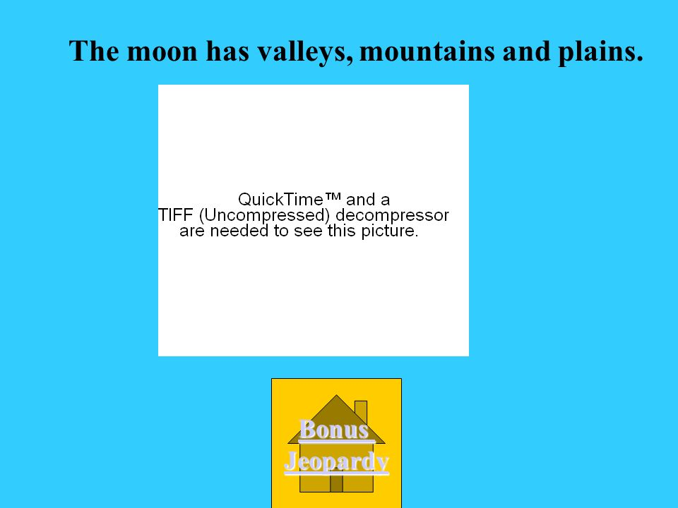 The moon has valleys, mountains and plains.
