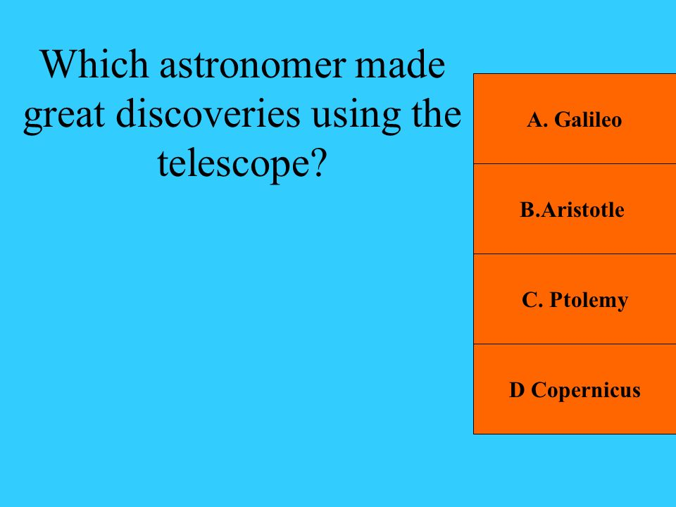 Which astronomer made great discoveries using the telescope