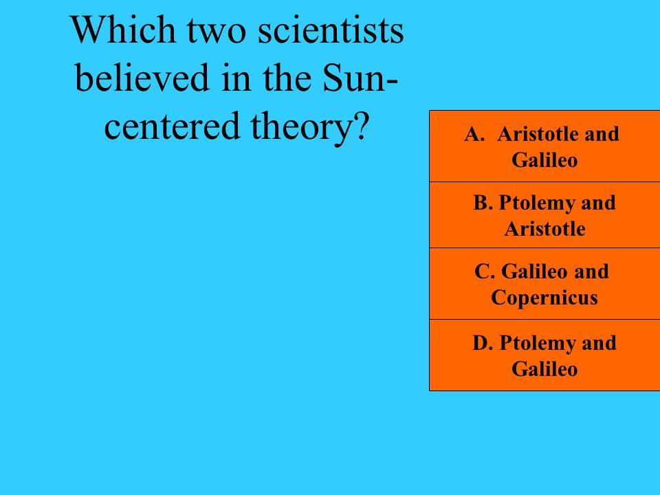 Which two scientists believed in the Sun-centered theory