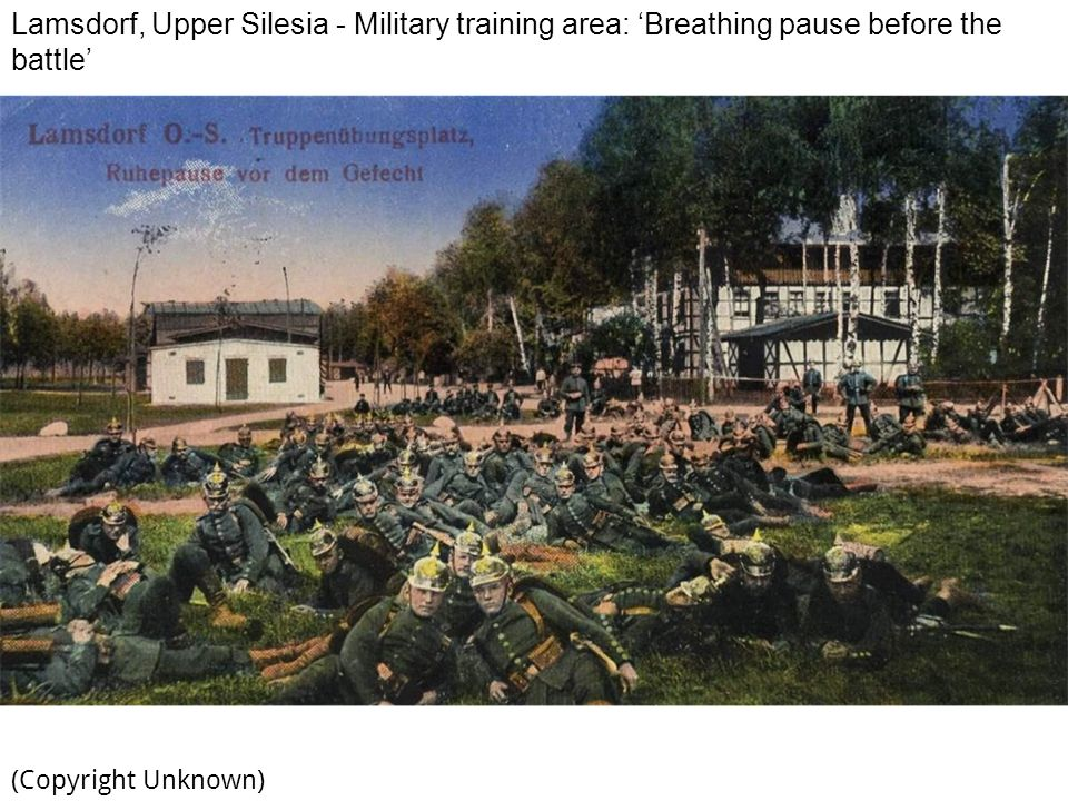 Lamsdorf, Upper Silesia - Military training area: 'Breathing pause before the battle'