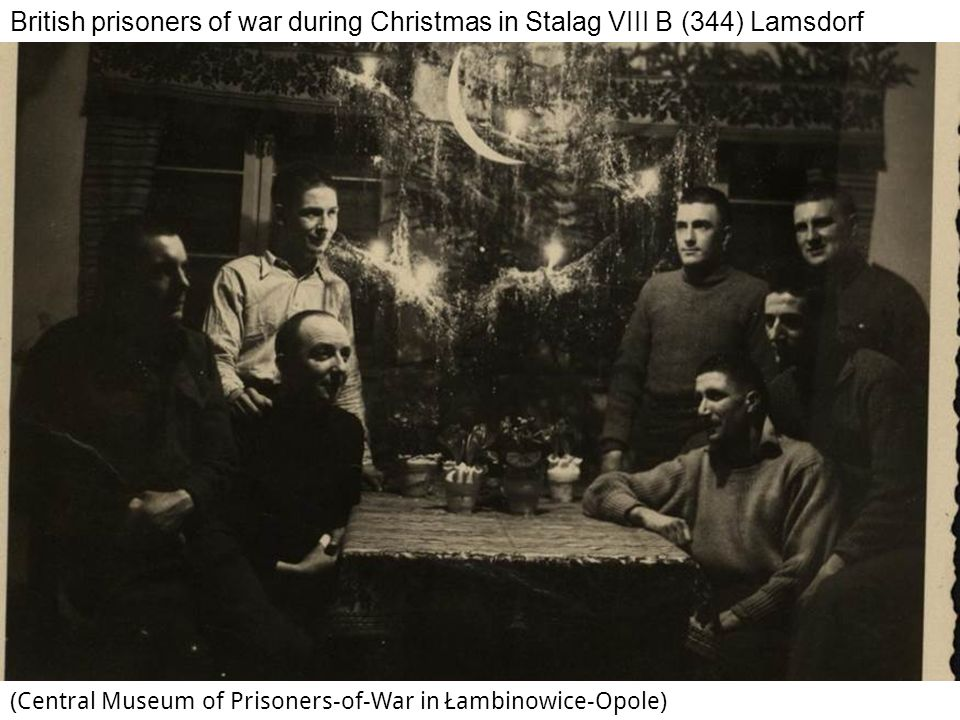 British prisoners of war during Christmas in Stalag VIII B (344) Lamsdorf