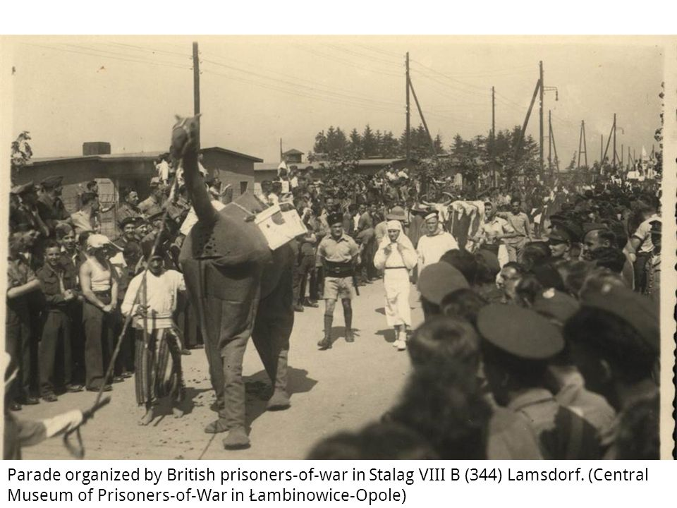 Parade organized by British prisoners-of-war in Stalag VIII B (344) Lamsdorf.
