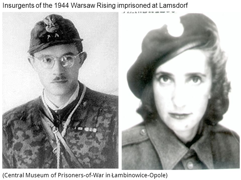 Insurgents of the 1944 Warsaw Rising imprisoned at Lamsdorf