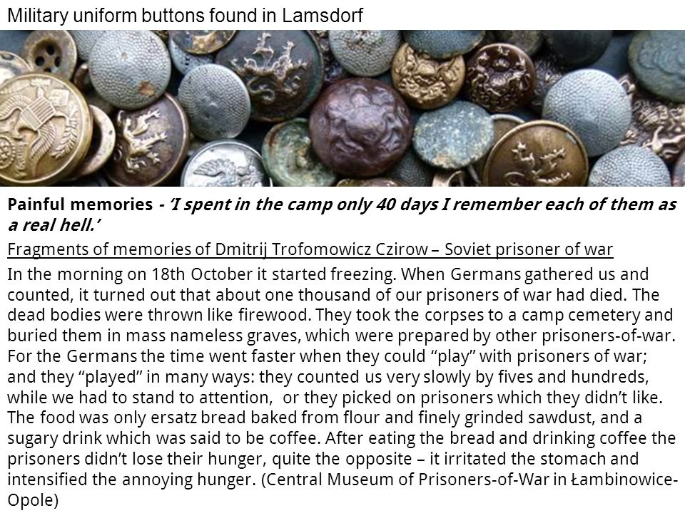 Military uniform buttons found in Lamsdorf