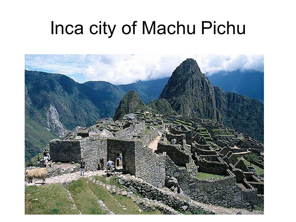 Inca city of Machu Pichu