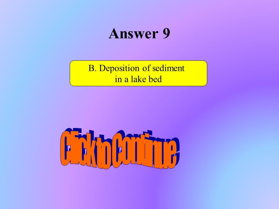 B. Deposition of sediment