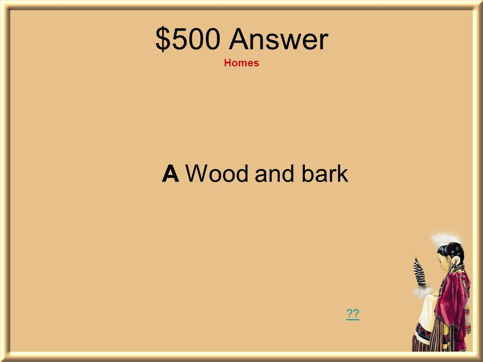 $500 Answer Homes A Wood and bark