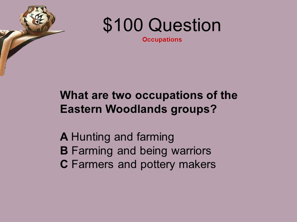 $100 Question Occupations