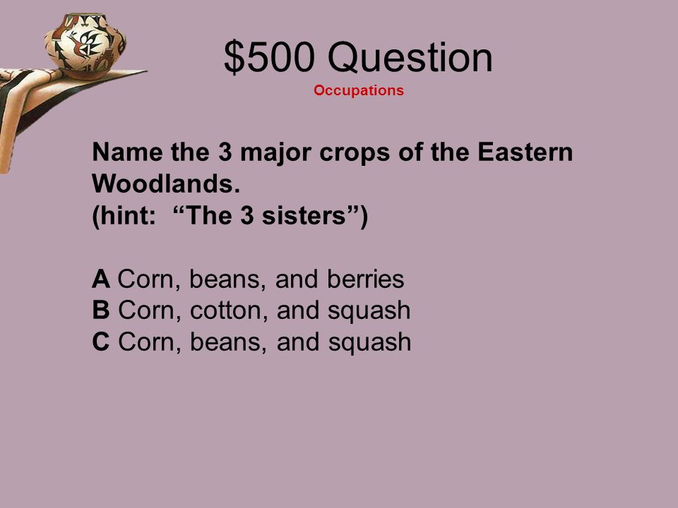 $500 Question Occupations