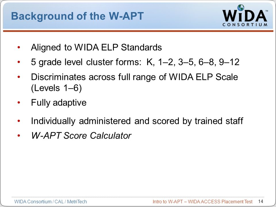 Background of the W-APT