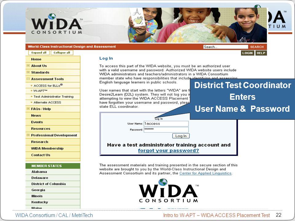 District Test Coordinator