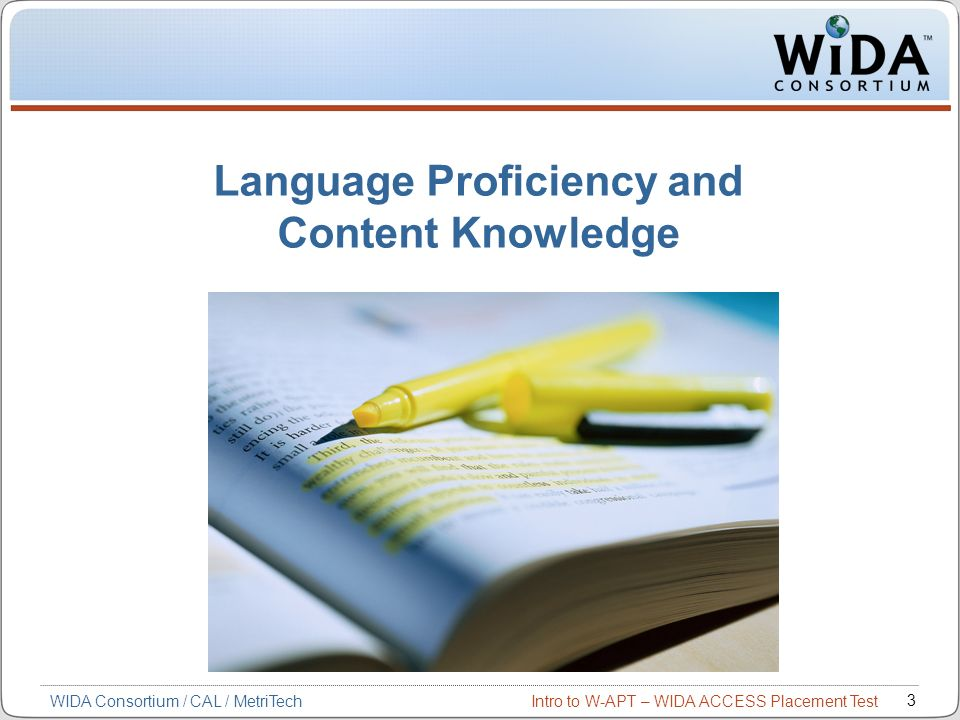 Language Proficiency and Content Knowledge
