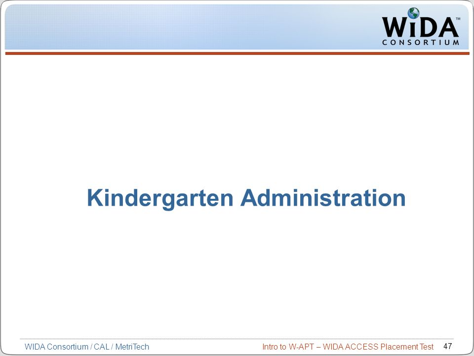 Kindergarten Administration