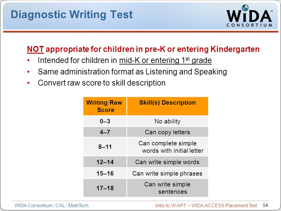 Diagnostic Writing Test