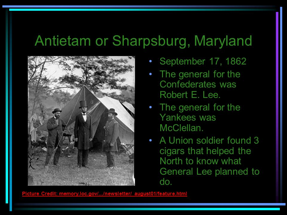 Antietam or Sharpsburg, Maryland