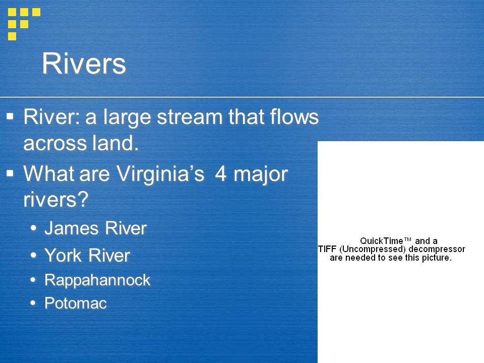 Rivers River: a large stream that flows across land.