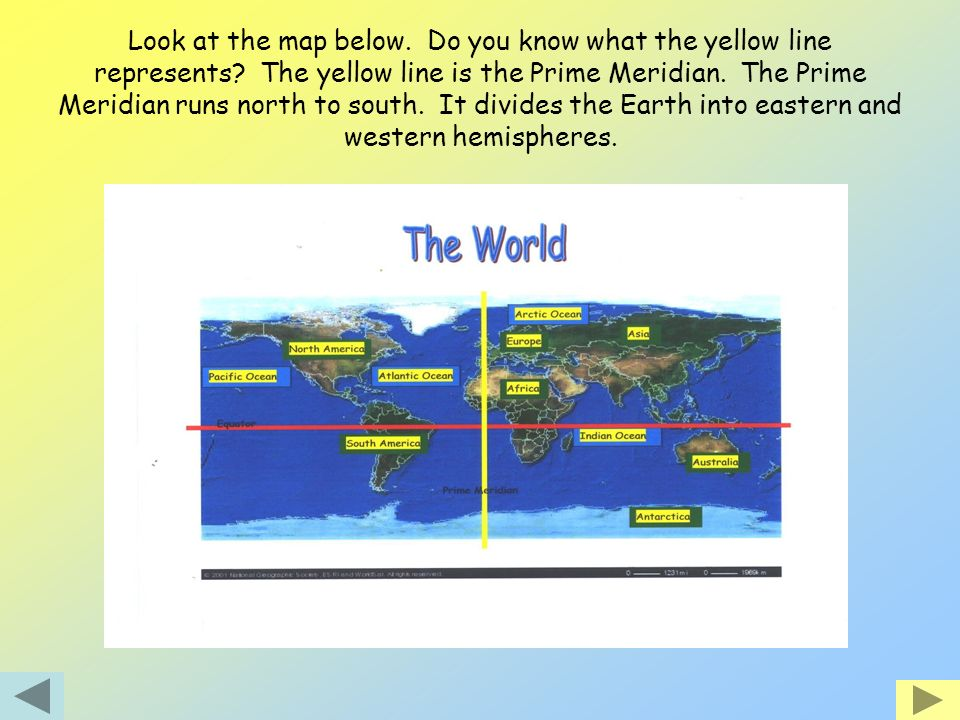 Look at the map below. Do you know what the yellow line represents