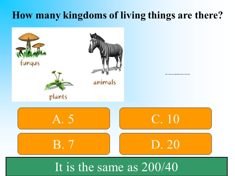 How many kingdoms of living things are there