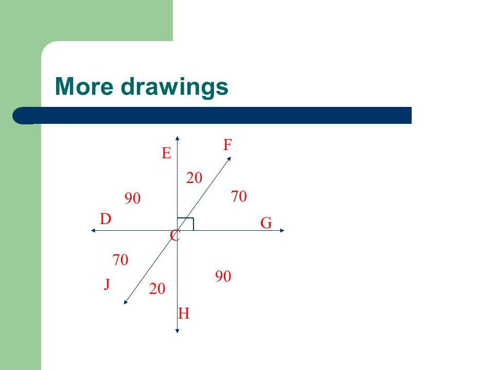 More drawings F E 20 90 70 D G C 70 90 J 20 H