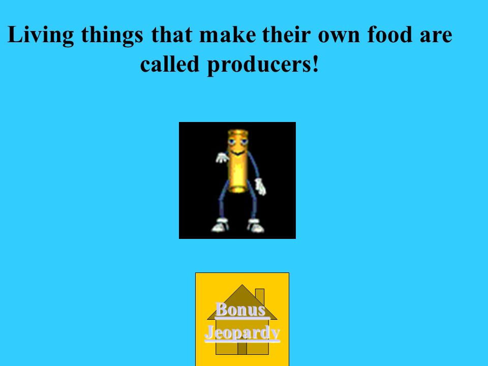 Living things that make their own food are called producers!
