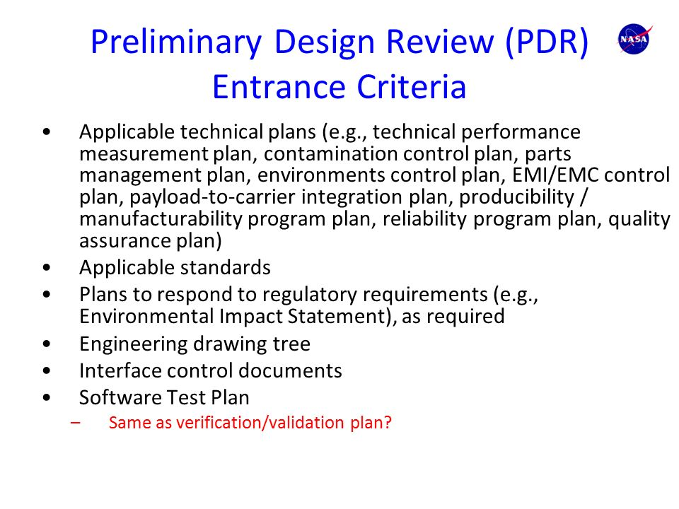Preliminary Design Review (PDR) - AcqNotes