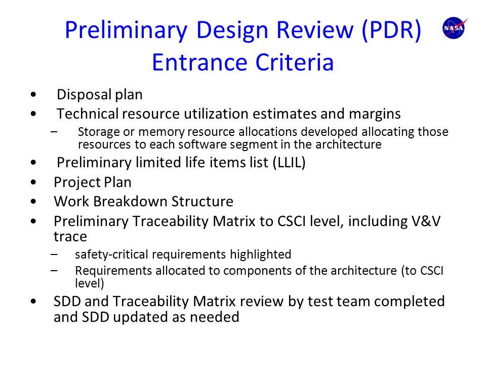 Exit & Entrance Criteria - AcqNotes