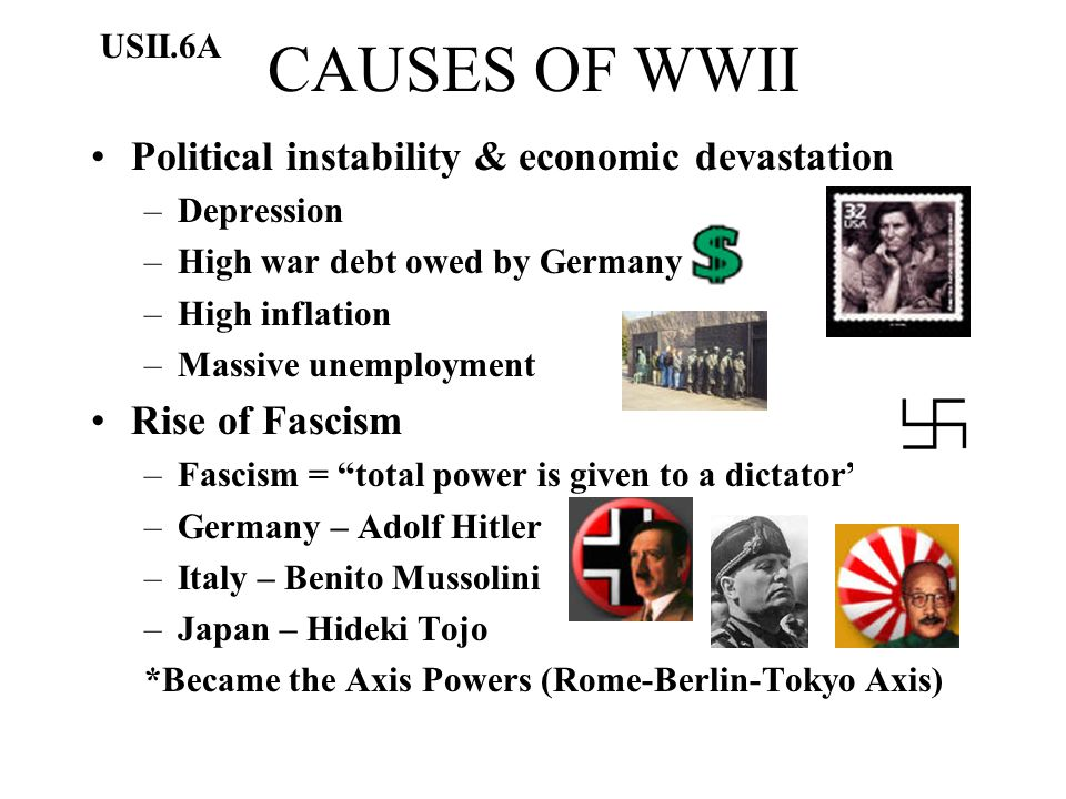 CAUSES OF WWII Political instability & economic devastation