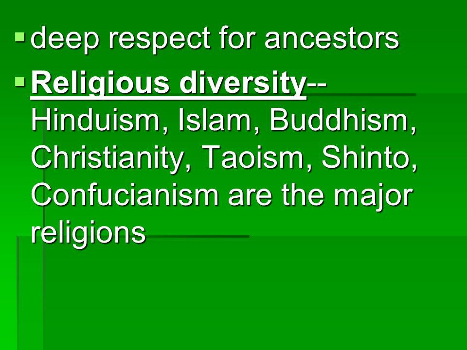 deep respect for ancestors