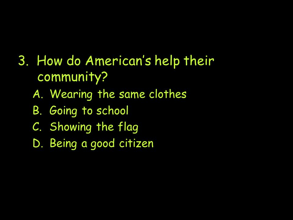 3. How do American's help their community