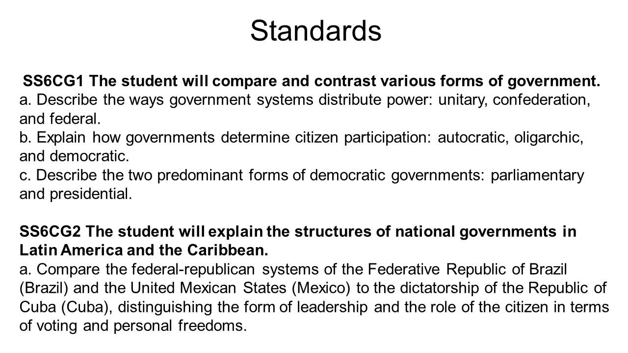 compare and contrast federal and state The us constitution is the supreme law of the land in the united states it creates a federal system of government in which power is shared between the federal government and the state governments.