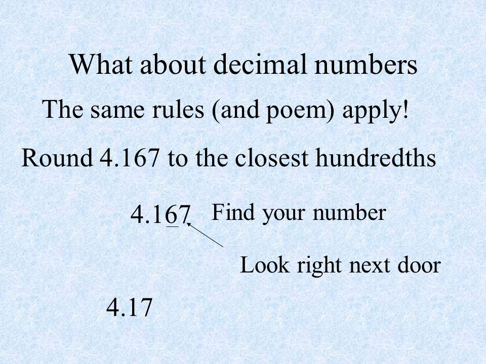 What about decimal numbers