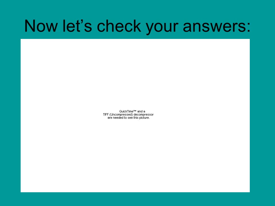 Now let's check your answers: