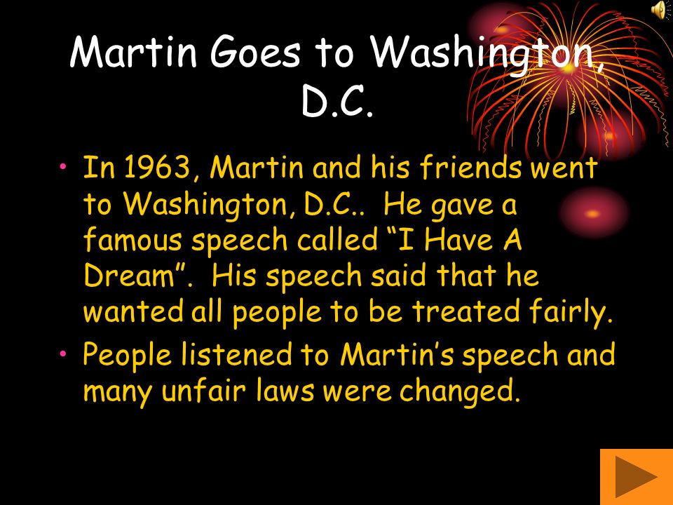 Martin Goes to Washington, D.C.