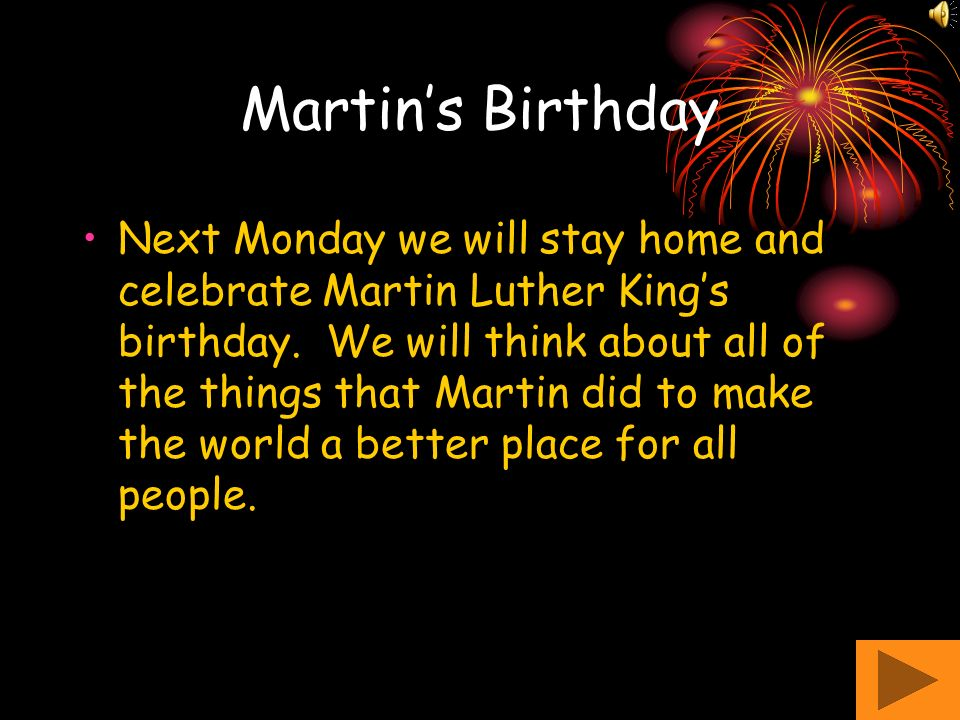 Martin's Birthday