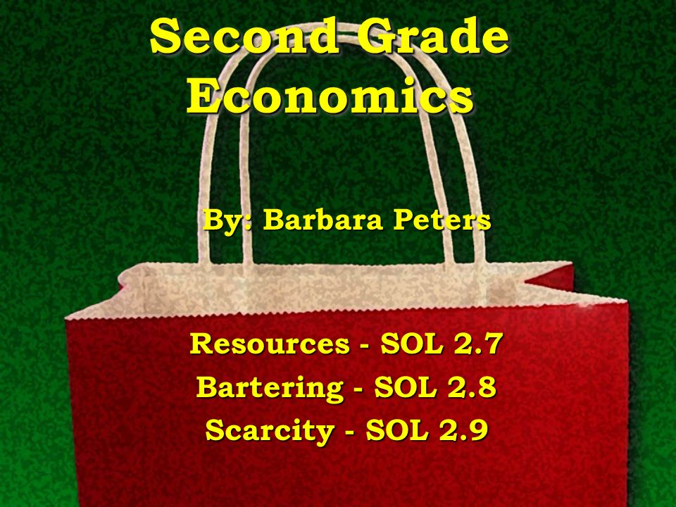 Second Grade Economics