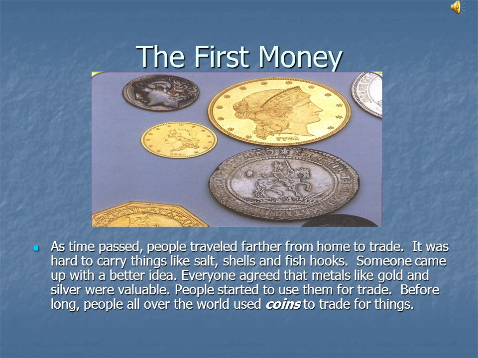 The First Money