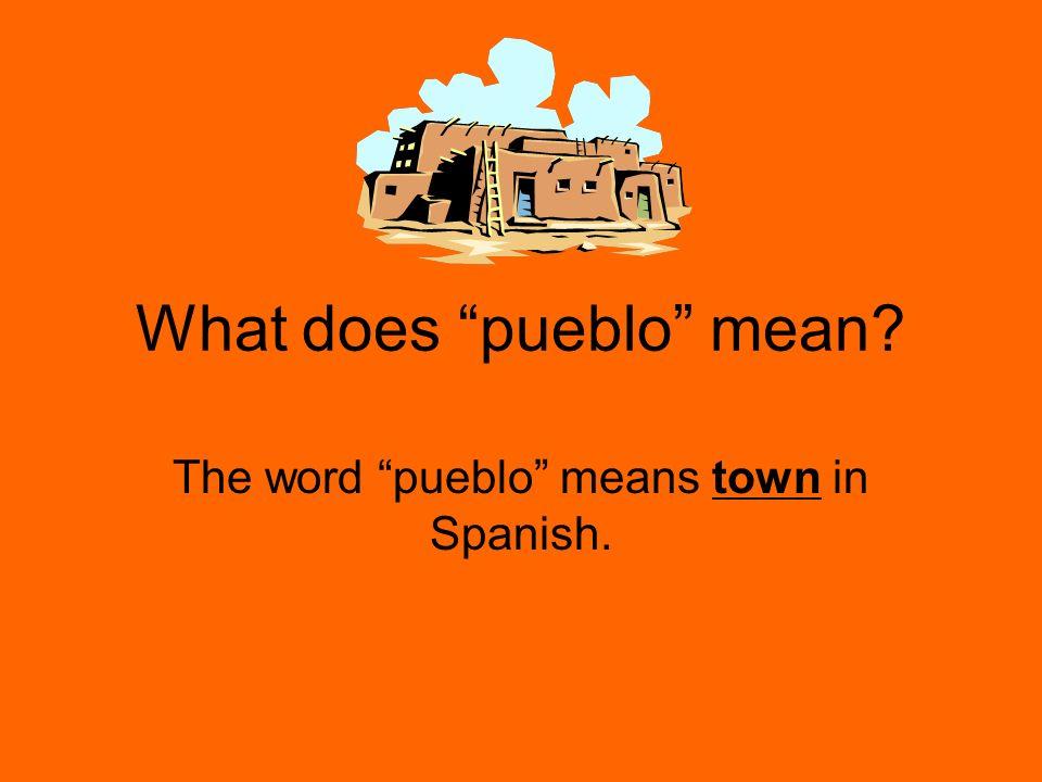 What does pueblo mean