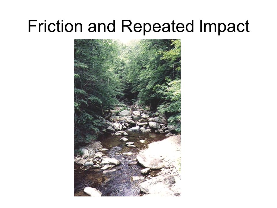 Friction and Repeated Impact