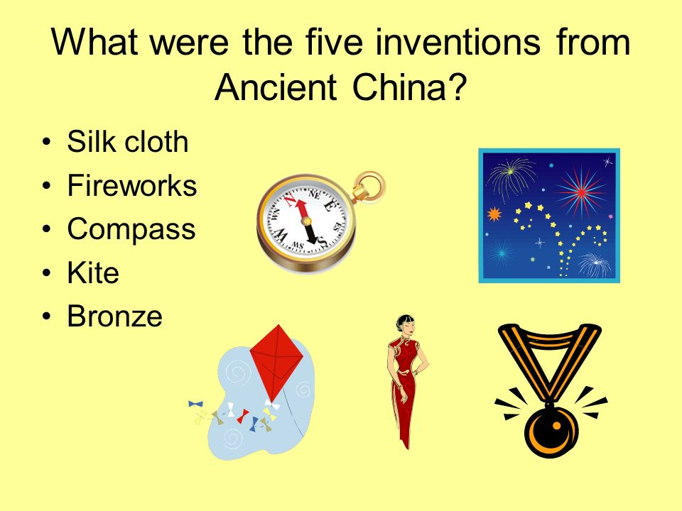 What were the five inventions from Ancient China