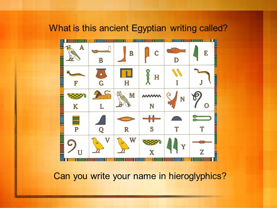 What is this ancient Egyptian writing called