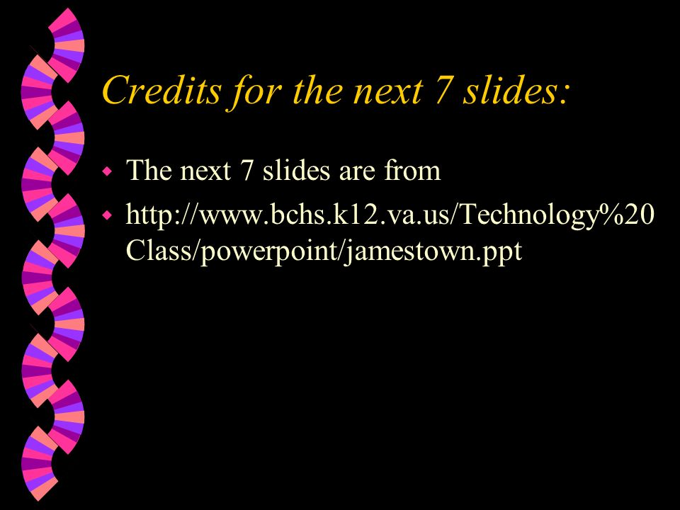 Credits for the next 7 slides: