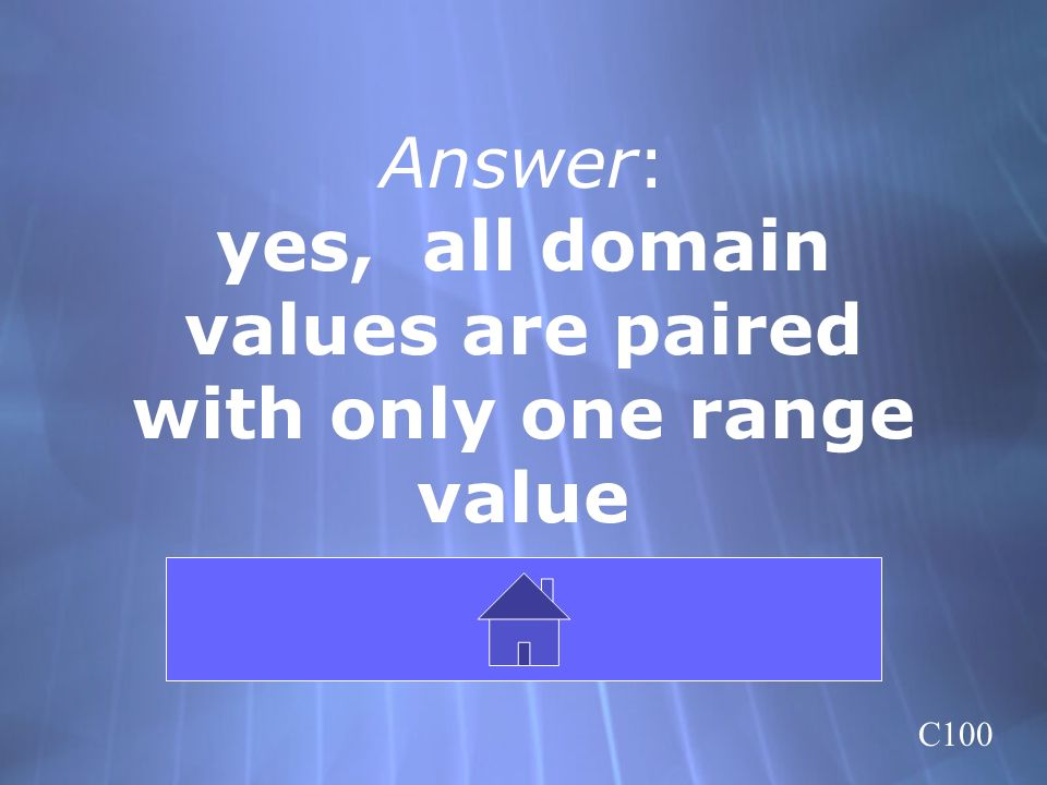 Answer: yes, all domain values are paired with only one range value