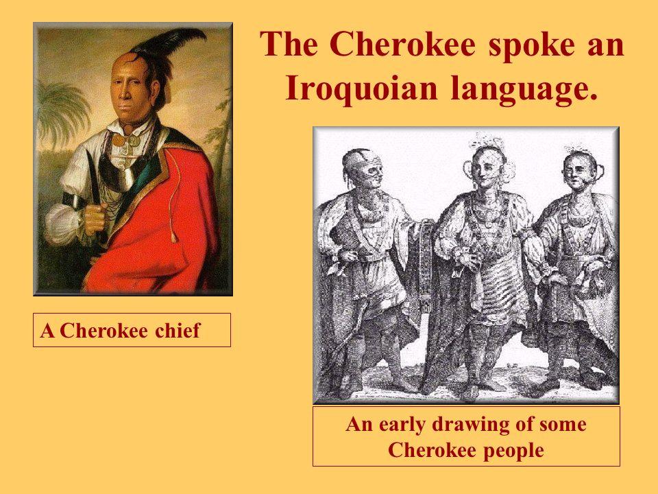 The Cherokee spoke an Iroquoian language.