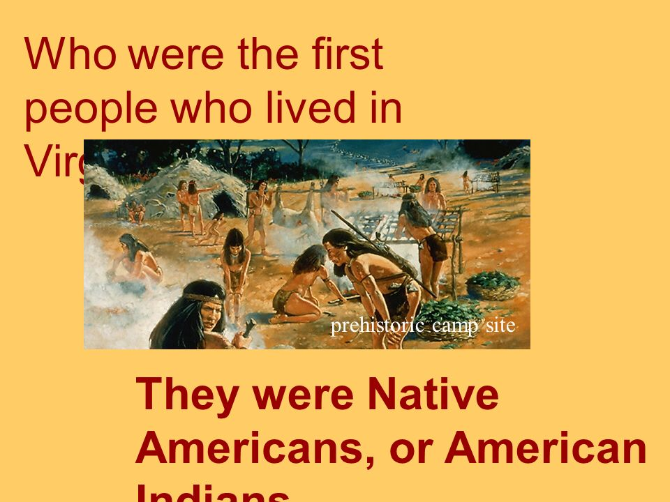 Who were the first people who lived in Virginia