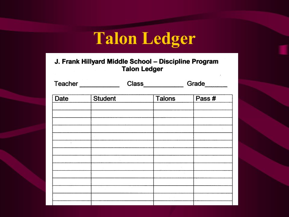 Talon Ledger