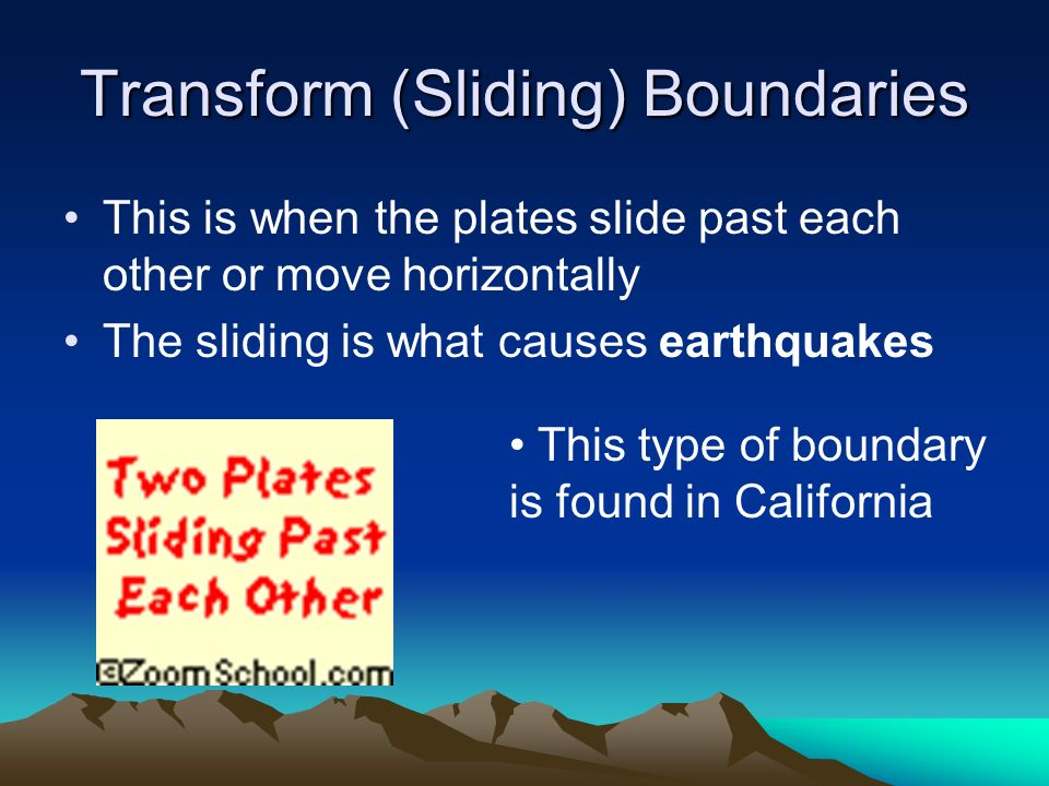 Transform (Sliding) Boundaries