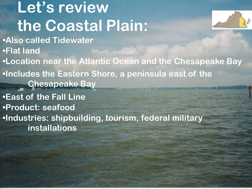 Let's review the Coastal Plain: