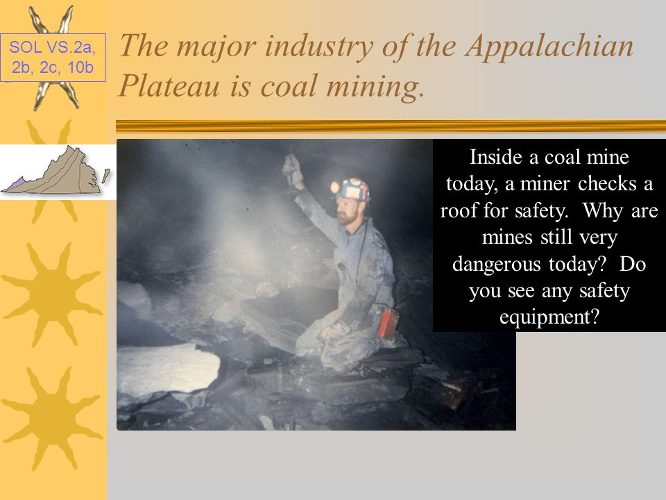 The major industry of the Appalachian Plateau is coal mining.